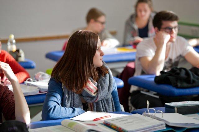 Unterricht in der Bildungsakademie für Therapieberufe. (Foto: René Golz)